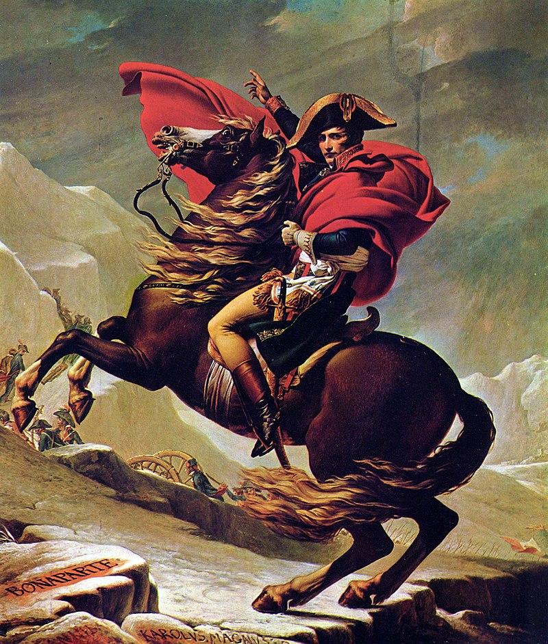 シャルロッテンブルク宮殿蔵『ベルナール峠からアルプスを越えるボナパルト』