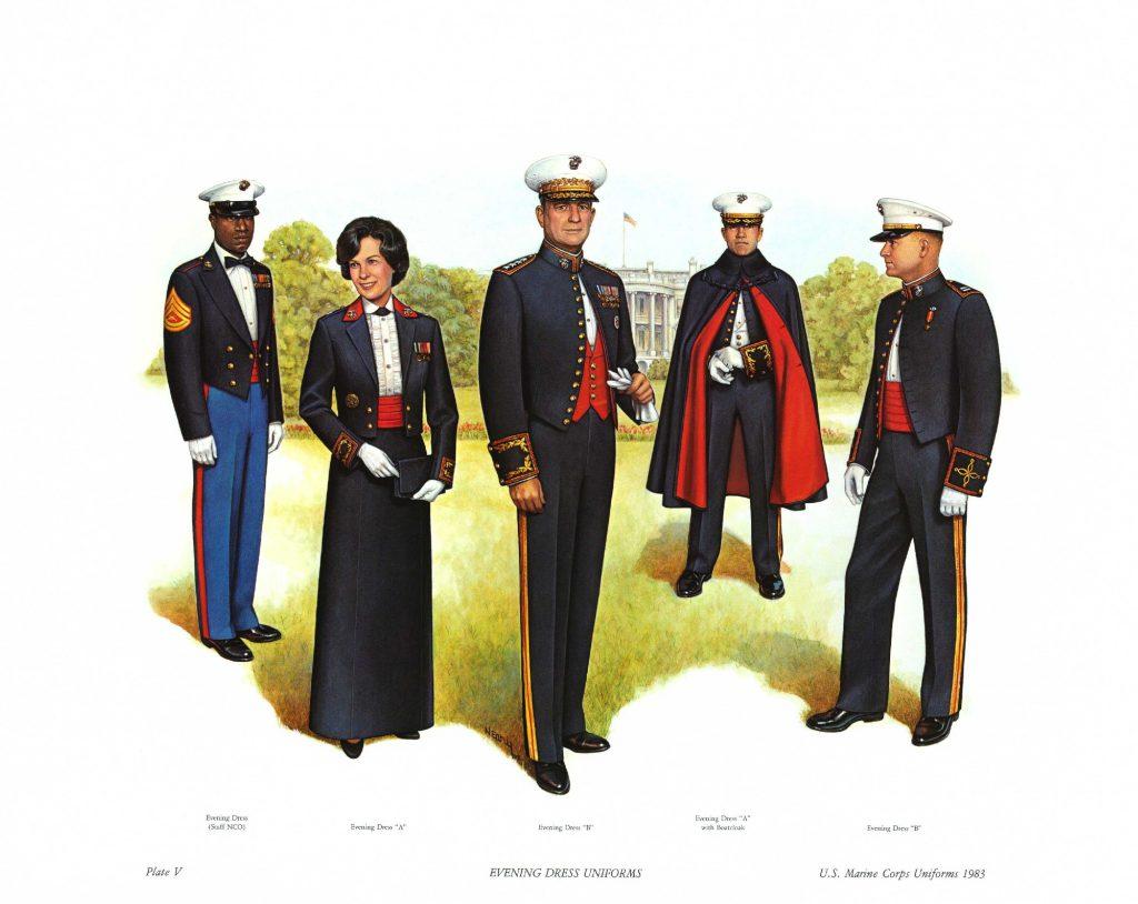アメリカ海兵隊の夜会服装