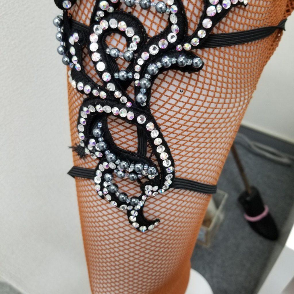 ハンドメイド 飾り付モチーフレース ヘアアクセサリー 洋服につける フィギュアスケート フラメンコ ベリーダンス 新体操 バトン 舞台衣装に使えるモチーフレース
