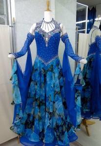 ML33モダン ブループリント 白樺ドレス