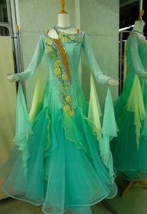 ML36モダン ミント/イエロー 白樺ドレス