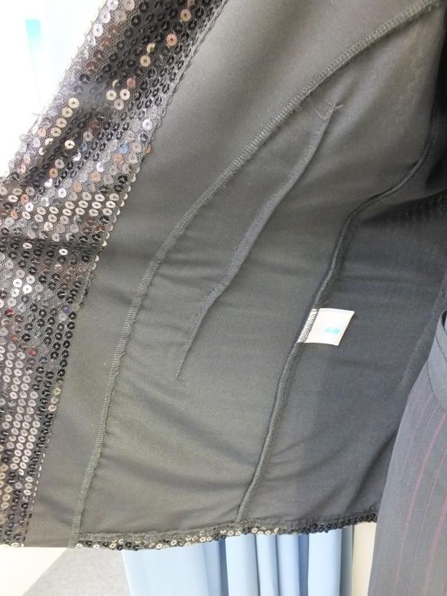 メンズ スパンコールジャケット 白樺ドレス