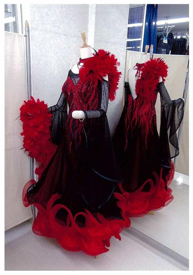 タンゴ用 ファンタジックラインドレス