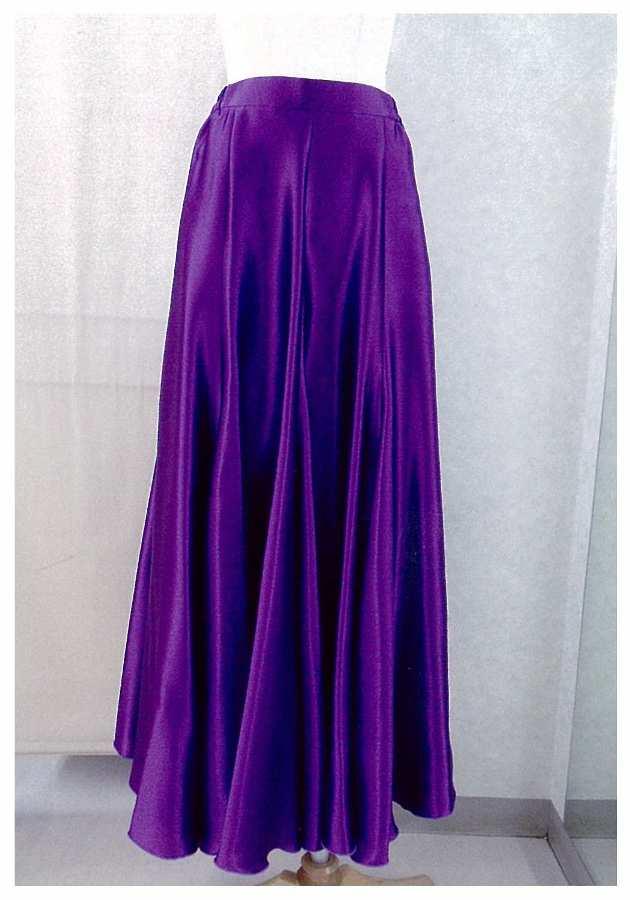 サテンスカート 限定紫