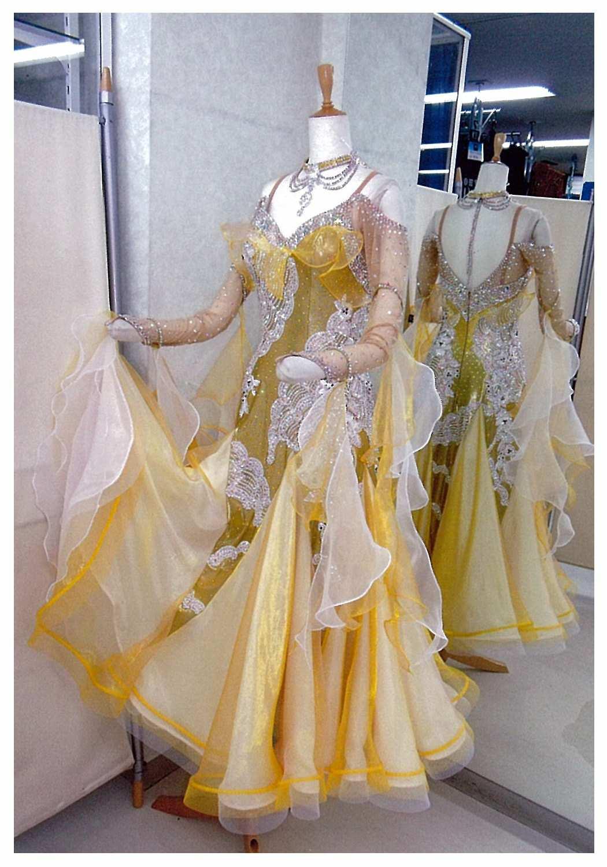 ファンタジックライン ゴールド ドレス