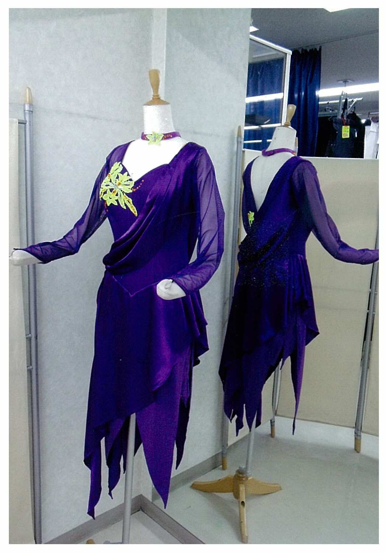 紫色 ラテンドレス