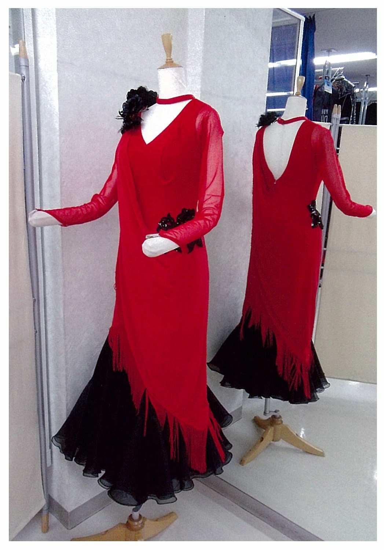 赤 フリンジドレス