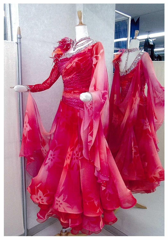 花柄 ファンタジックラインドレス