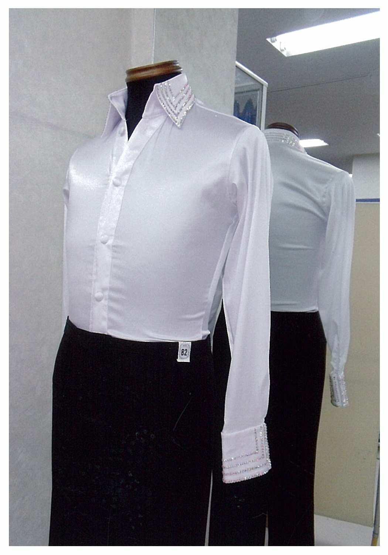 男性のラテン衣装 サテンシャツ