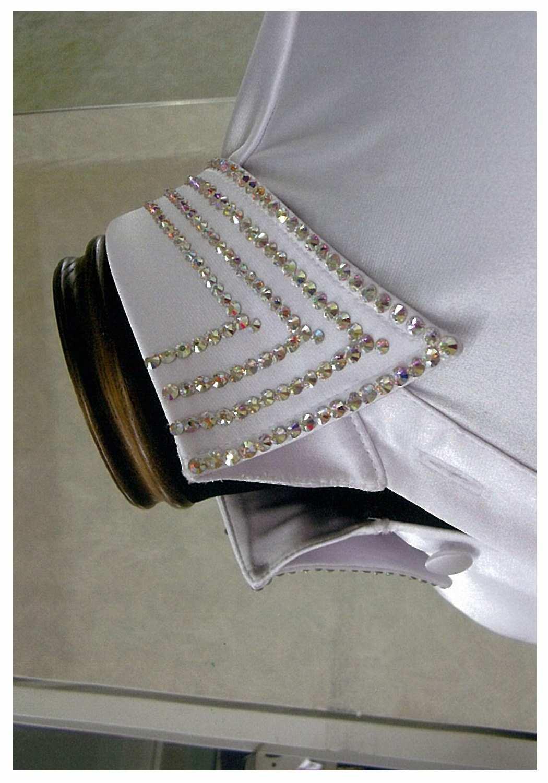 男性のラテン衣装 石付きサテンシャツ