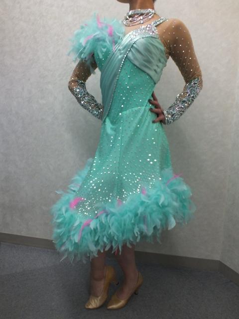 ショーダンス衣装 早変り衣装 ペパーミントグリーン