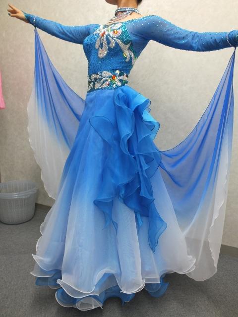 ショーダンス衣装 早変り衣装 ライトブルー