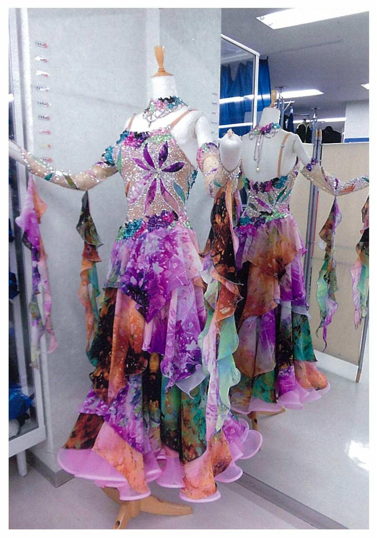 プリント柄ドレス
