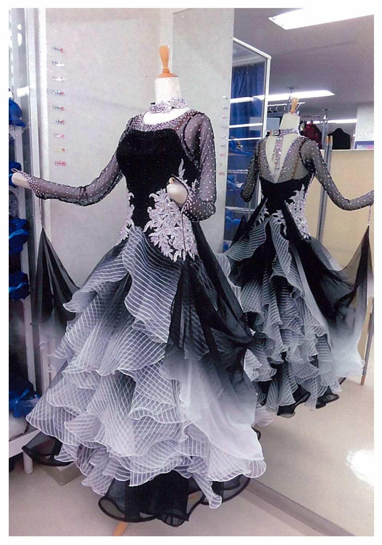 黒白のスタンダードドレス