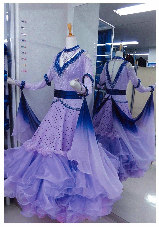 うす紫色のスタンダードドレス