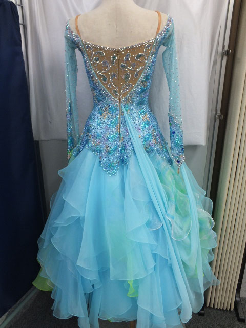 社交ダンスドレスのリメイク 白樺ドレス
