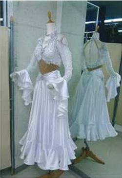 パソ用新作レンタルドレス白画像 白樺ドレス