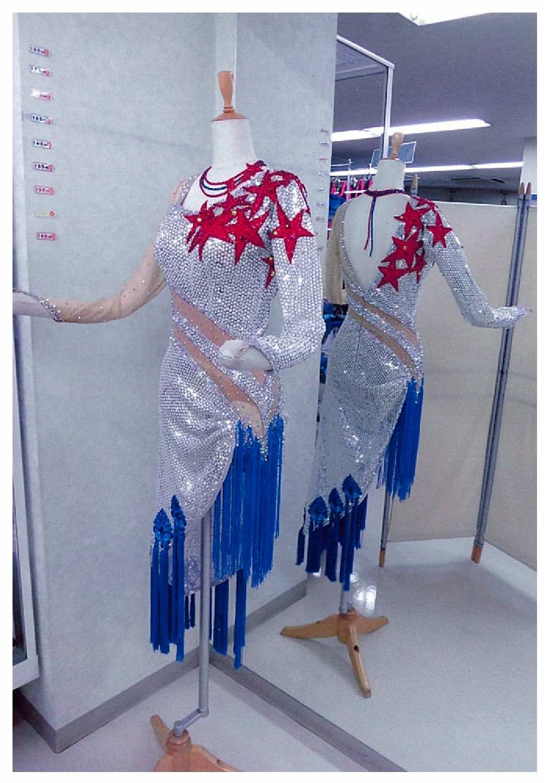 クリスマスパーティー デモ用社交ダンスドレス