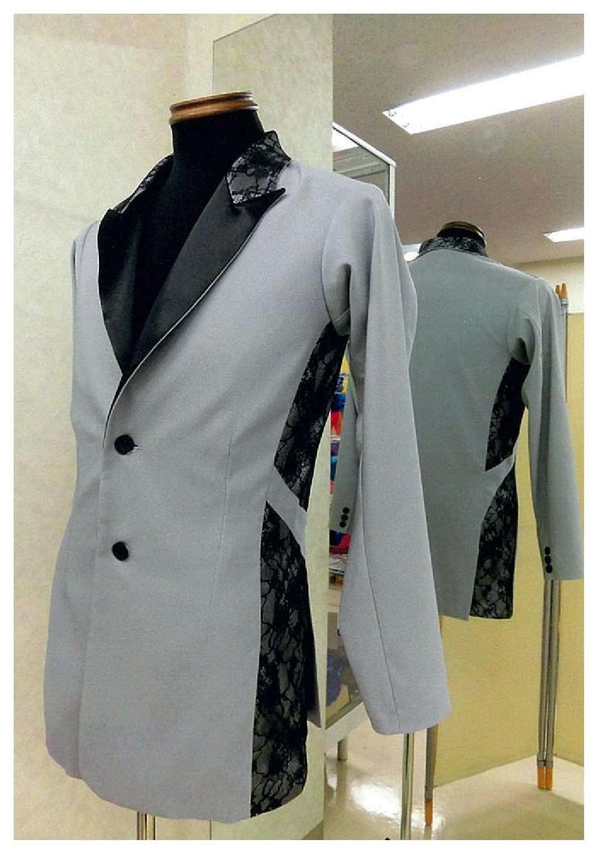 グレーのダンスジャケット 男性のデザインダンスジャケット