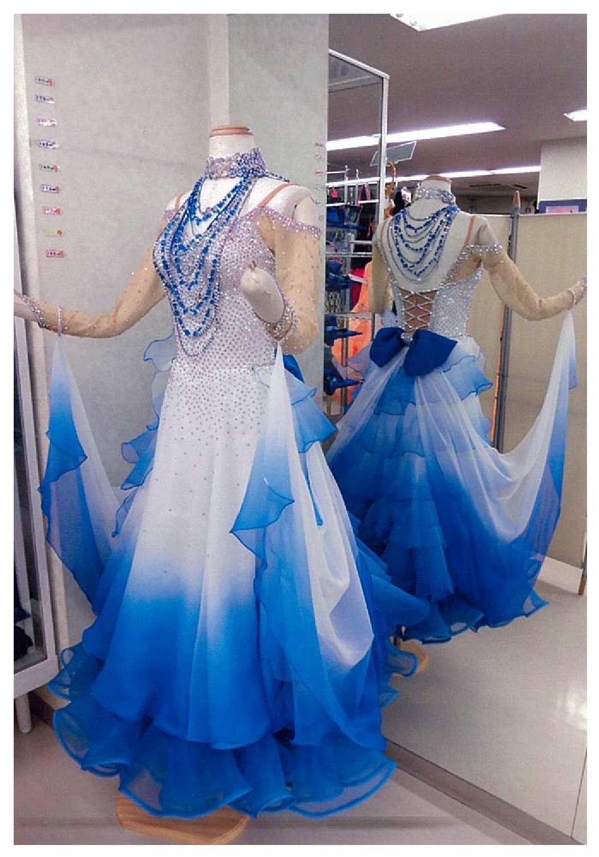ファンタジックライン ブルーグラデーションドレス バックスタイルリボン