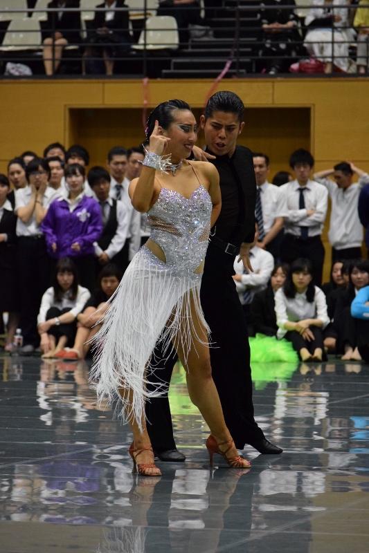 東部日本学生競技ダンス選手権大会 ルンバの部 優勝 勝てるドレス 日本製のセミオーダーラテン衣装 白ラテンフリンジドレス