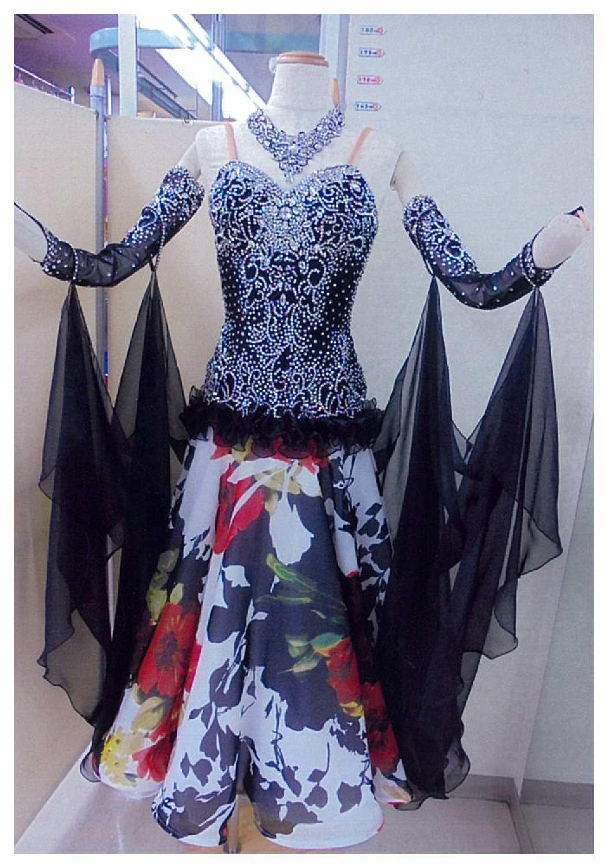 SM20モダン ブラック/プリント  ネオラインドレス