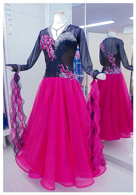 石付きスタンダードドレス リーズナブル社交ダンスレンタルドレス