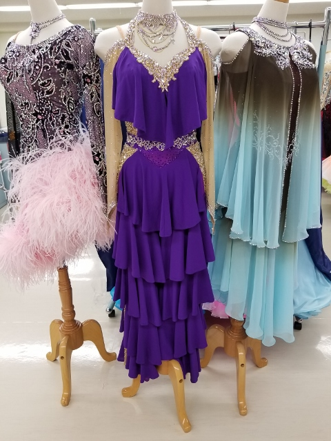 パンツタイプ パープル系ドレス