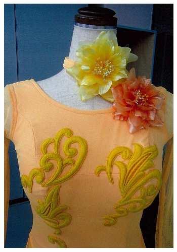 オリジナルコサージュ 白樺ドレス