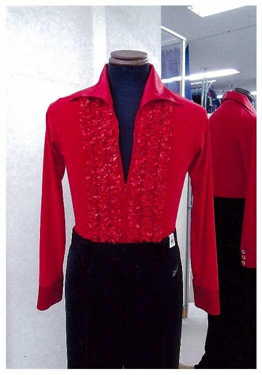 新作メンズシャツ 赤 白樺ドレス