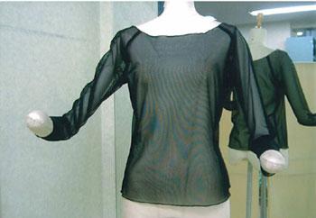 ダンス用 インナーメッシュシャツ 黒