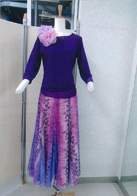 プリントスカートピンクパープル画像2 白樺ドレス